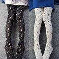 Princess sweet lolita pantyhose Japanese original  girl lovely time hourglass printed velvet pantyhose LKW56