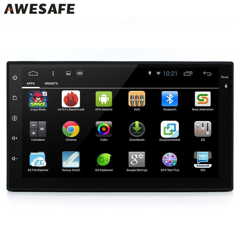 AWESAFE 2 Din 7 Android 6 0 font b Car b font DVD Player Radio font