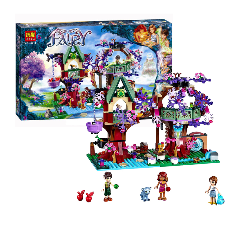 LELEOnine@Building Blocks Set Compatible with The Elves Treetop Hideaway  Brinquedos Bricks Toys for Girls 10551 elves ragana s magic shadow castle building blocks bricks toys for children toys compatible with lego gift kid set girls