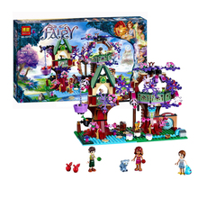 LELEOnine@Building Blocks Set Compatible with lego The Elves Treetop Hideaway Brinquedos Bricks Toys for Girls