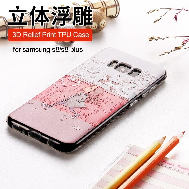 Samsung Galaxy S8 Plus üçün 3D gücləndirici yumşaq silikon - Cib telefonu aksesuarları və hissələri - Fotoqrafiya 3