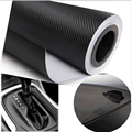 Free shipping!Hot selling sticker  !Size :30cm*127cm /Sheet  Black color 3D Carbon Fiber Vinyl film ,wrap KF-12311