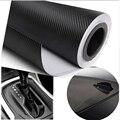 Frete grátis! venda Quente da etiqueta! tamanho: 30 cm * 127 cm/Sheet cor Preta 3D Fibra De Carbono Vinyl film, envoltório KF-12311