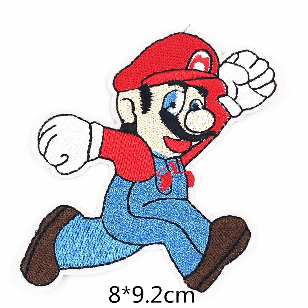 US $2 33 40% OFF|4PCS Green Super Mario bros Anime Game Embroidered Patch  Iron on Sew on Applique Patches DIY Clothes Apparel repair Badges-in  Patches