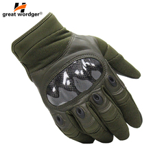 Military Tactical Gloves Men Army Anti-skid Full Finger Paintball Sports Hiking Cycling Carbon fiber Combat