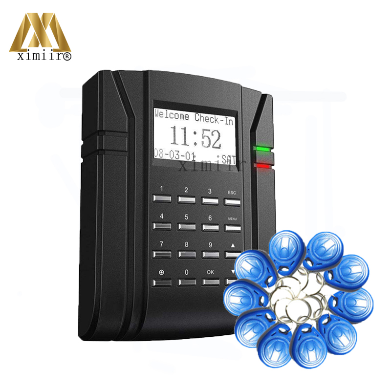 Biometric Promixity ID Card Access Control Time Attendance Alarm Function Door Access Controller ZK S203 Access Control System