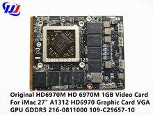 Original HD6970M HD 6970M 1GB Video Card For i M a c 27″ A1312 HD6970 Graphic Card VGA GPU GDDR5 216-0811000 109-C29657-10