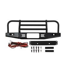 1/10 RC Rock Crawler Metall Frontschürze mit Licht für Axial SCX10 90046 90047 Traxxas TRX 4 TRX4 Defender Bronco