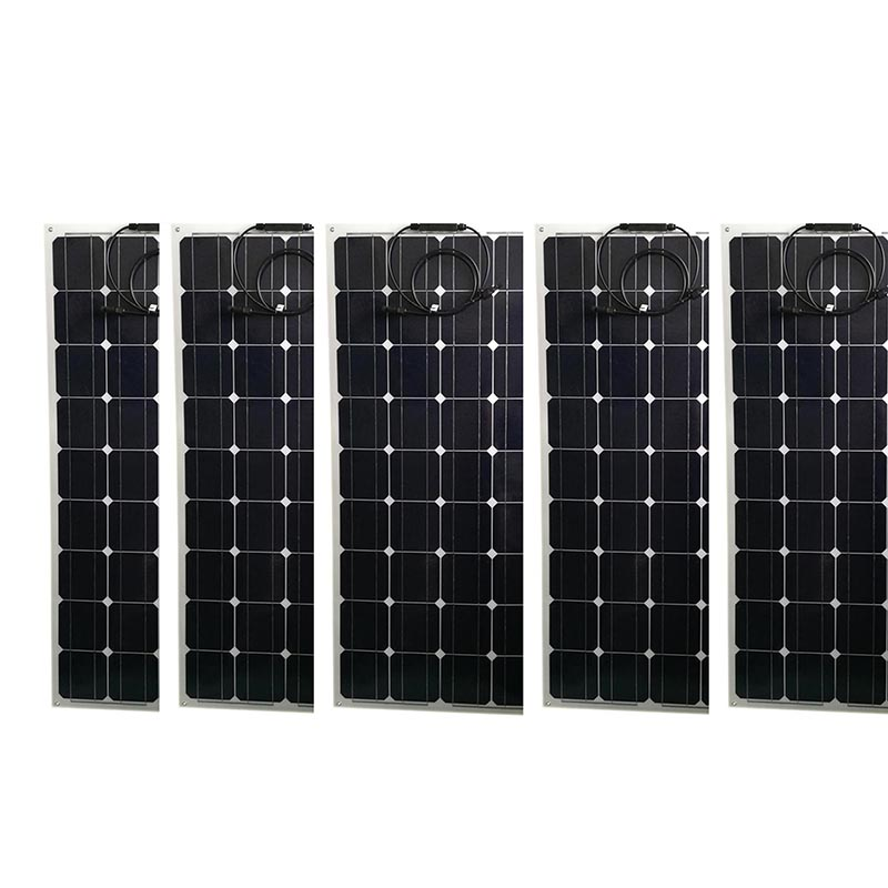 flexible panneau solaire 12 v 100 w 5 pcs solar battery charger placas solares 500w 220v marine