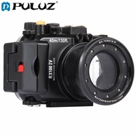 PULUZ 40m Underwater Depth Diving Case Waterproof Camera Housing for Sony RX100 IV Black Lightweight Protective Cover