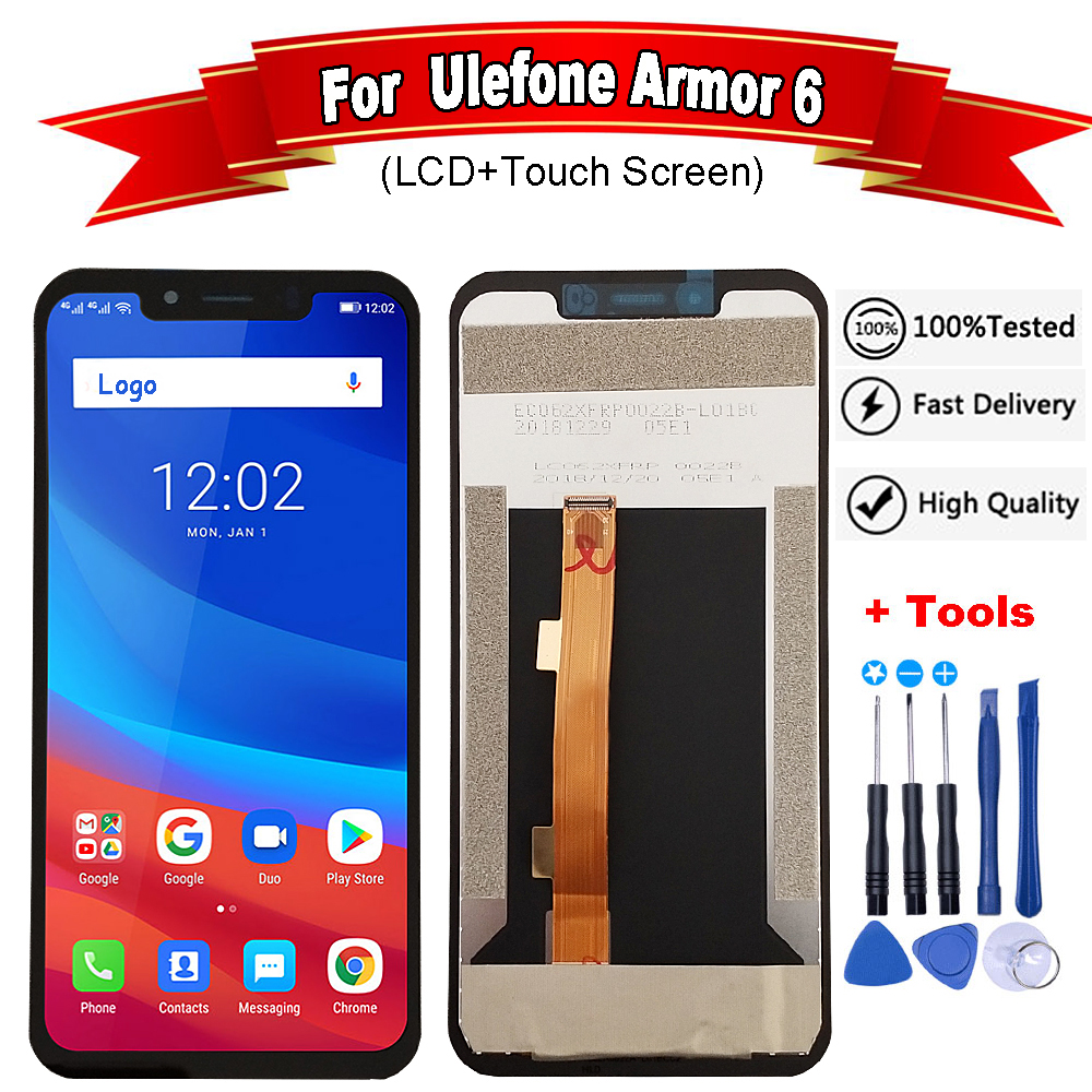 6.2 inch For Ulefone Armor 6 LCD Display and Touch Screen5.85 Inch 100% New Repair For Uefone Armor 6 Phone +Tools(China)