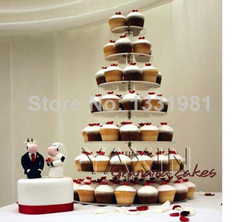 Wedding paper cups acrylic display circular wedding festival double sugar cake tier 7 party acrylic cupcake stand