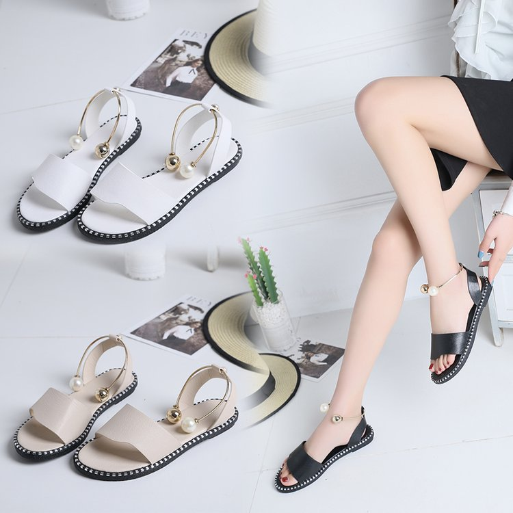 HTB167OlbyLrK1Rjy1zdq6ynnpXaQ HOKSVZY 2019 Sandals Flip Flops New Summer Fashion Rome Slip-On Breathable Non-slip Shoes Woman Slides Solid DFGD-A12