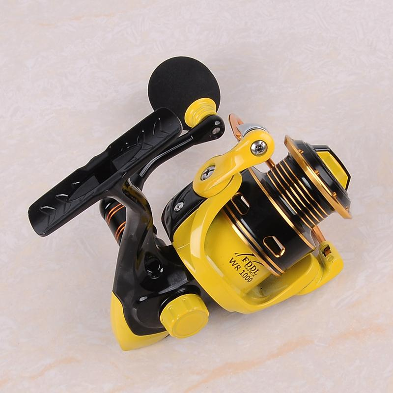ФОТО Lure as free Gift ! High Quality 2017 Brand Fishing Reel 12+1BB 1000  Series Pesca Spinning Reel for Feeder Small Spinning Wheel