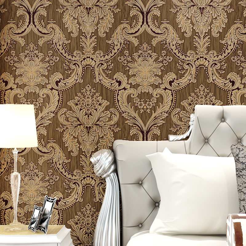 Good Beibehang Mural Classic Glitter Metallic Wall Paper Floral Texture Damask  Wallpaper Roll White Beige Bedroom Wallpaper For Walls In Wallpapers From  Home ...