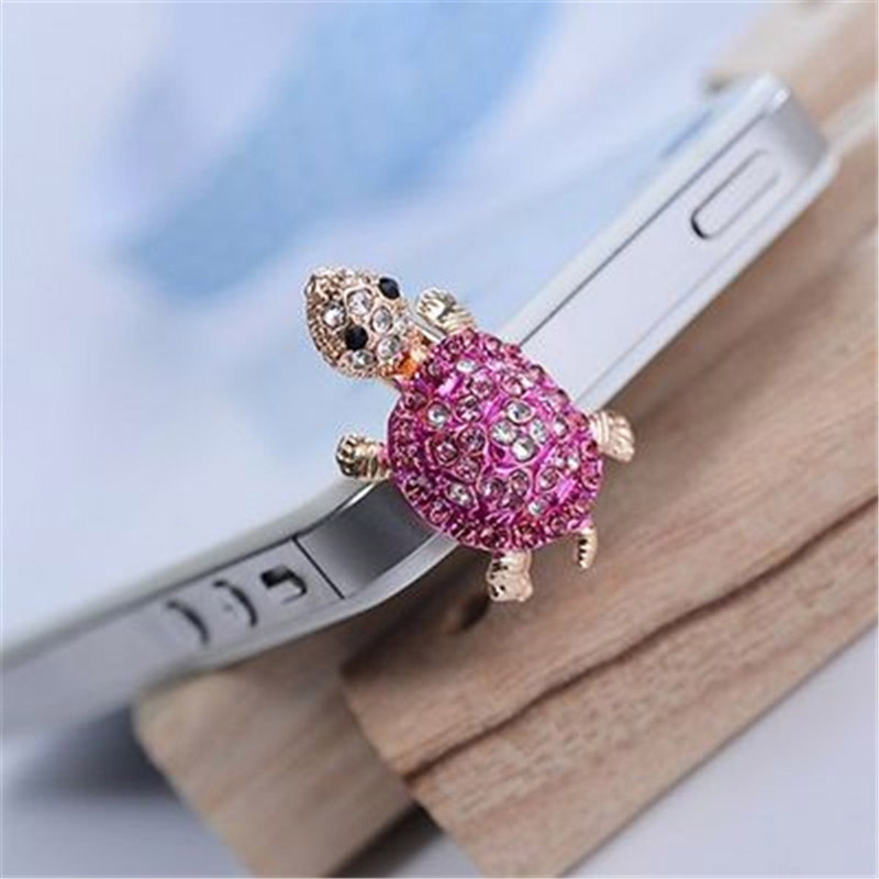 SIANCS Cute Turtle Shape 3.5mm Jack Headphone Port Dust Plug Phone Accessories For Iphone Samsung Anti Dust Plug