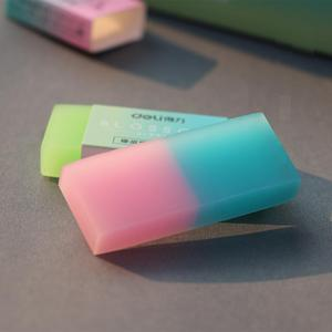 Image 2 - 24/30Pcs Double Colors Jelly Rubber Eraser Kids Draw Pencil Eraser School Art Class Sketch Supplies Office Stationery 71081