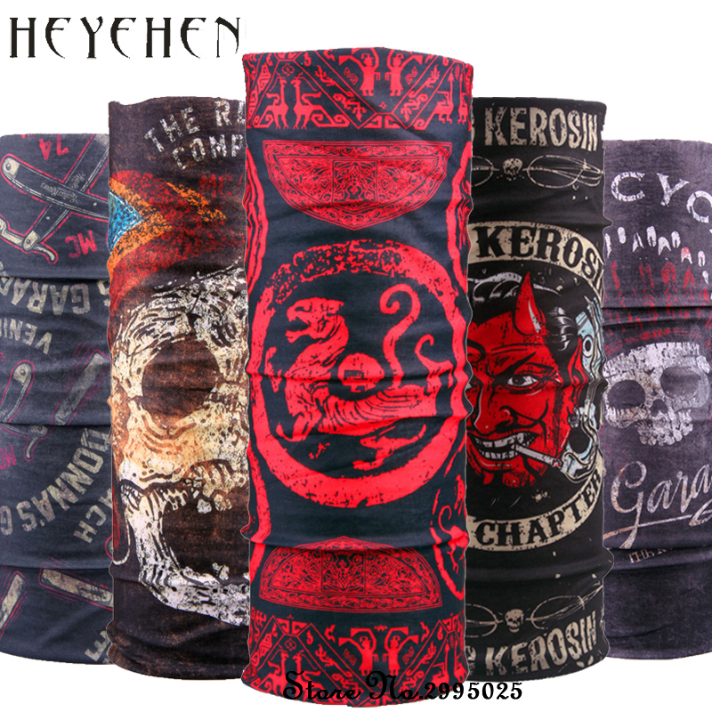 2017 New Design Dragon Skull Bandana Scarf Multifunctional Seamless Tubular Headband Magic Scarf Gift For Baby HY16