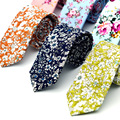 Hombres Diseñadores Florales Highend Algodón Impreso Corbatas 6 cm Lazo Masculino Corbata Gravata Delgada Para Hombre de la Pajarita Ropa Accesorios Lazos Bolo