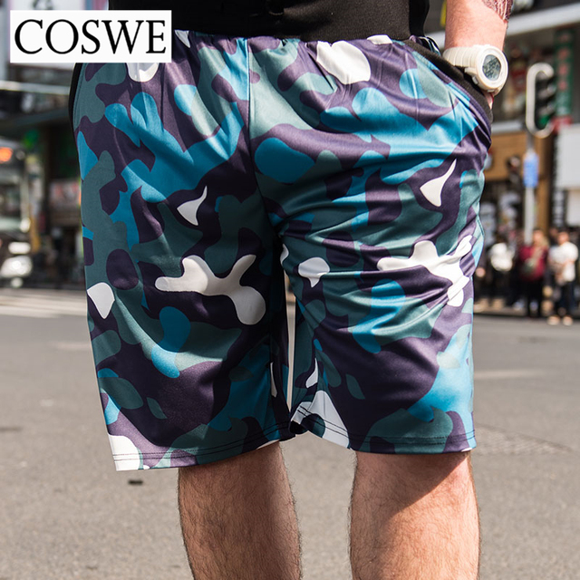 1ac4f502005af COSWE 6XL Men Beach Shorts Plus Size Man Camouflage Summer Fashion Mens  Short Pants Brand Casual