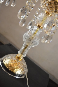 Image 4 - 7 머리 luxruy e14 촛불 크리스탈 테이블 램프 패션 크리스탈 테이블 램프 거실 램프 침실 램프 k9 상단 크리스탈 테이블