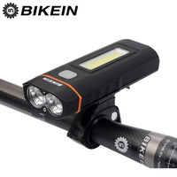 BIKEIN Cycling Bicycle Dual Lights Bike Headlight Lamp T6 COB Front Light 500 Lumens 18650 Battery