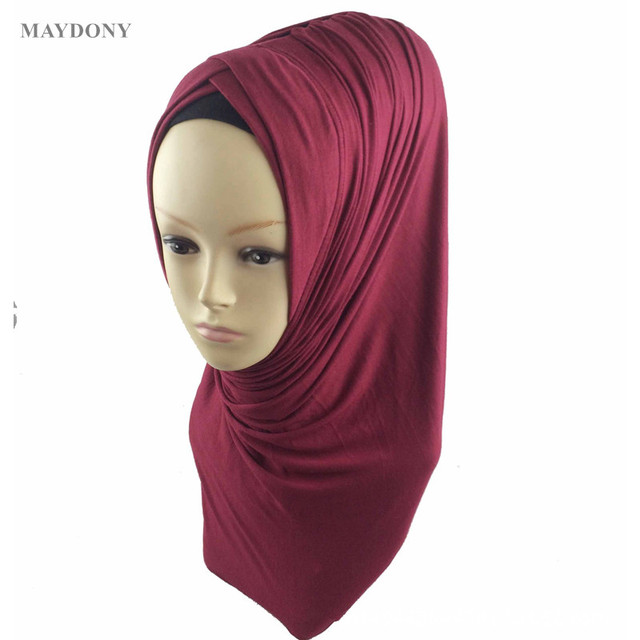 TJ29 de moda doble Hijab musulmán diadema Pashmina musulmán chal