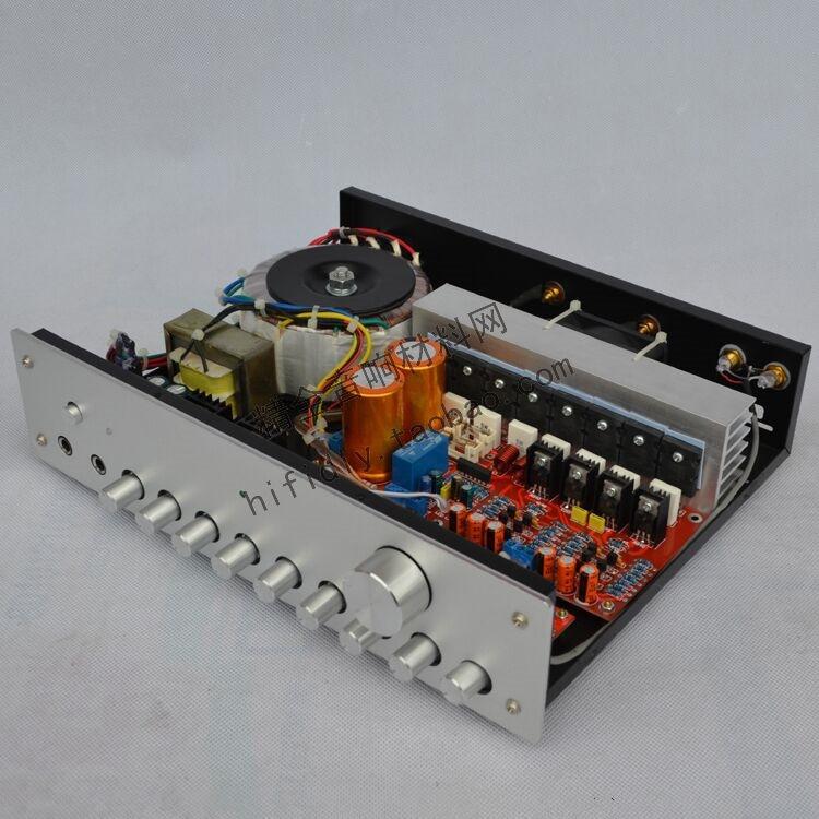 LM4610+65831+C5200 /A1943 HIFI fever amplifier 220V 2*160W 2.0 channel Kara OK reverberation Preamp/stage/integrated amplifier krell ksa100 c5200 a1943 260w 2 class ab power amplifier board