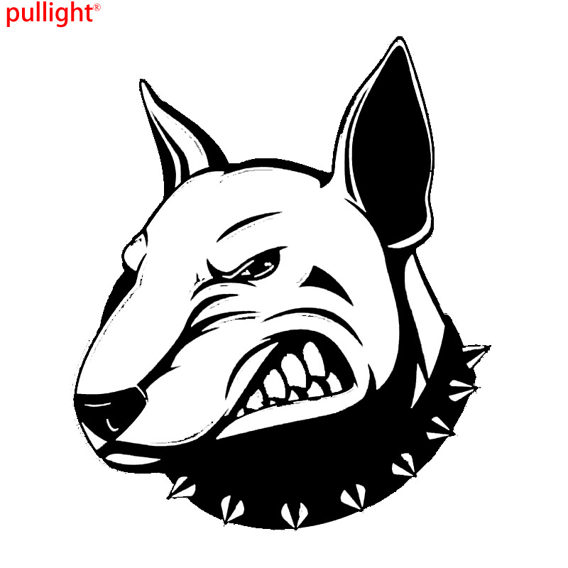 Angry Bullterrier Dog Car Stickers Creative Vinyl Decal Car Styling Bumper Accessories