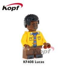 Building Blocks Super Heroes Single Sale Stranger Things Lucas Will Dustin Eleven Bricks Education Toys for children KF408