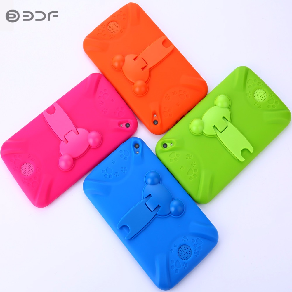 7 Inch Children Kids Tablet PC Education Android 4.4 With Rubber Holster Quad Core Nice Design Learning Entertainment Tablet BDF