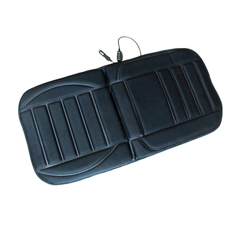 Hot Selling Winter Car Pad Cushion Electric Heated Car Heated Seat Covers Universal Conjoined Supplies Black Color Practical