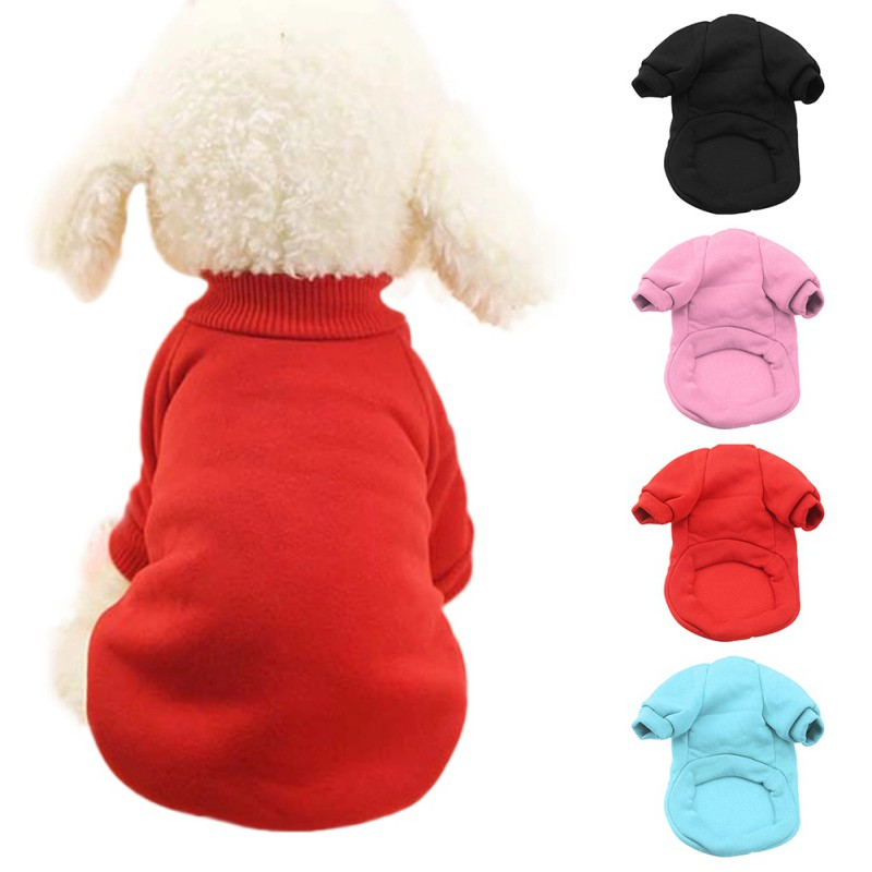 Winter Keep Warm Pet Dog Clothes Cotton Puppy Vest Coat Soft Pet Cat Clothes hoodie Tedd ...