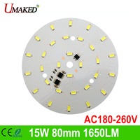 15W 220V SMD5730 80mm 30leds 1500 1650m No Need Driver PCB With Leds For Bulb Light