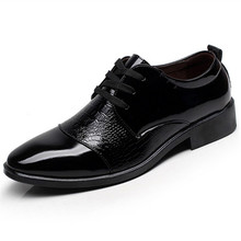 New Fashion Casual Mens Dress Shoes PU Leather Crocodile Lace-up Italian Stylist Flat Formal Oxfords Wedding shoe Party shoes red wedding pu leather fashion new african shoes and bag set for party italian shoes with matching bag new design ladies bag