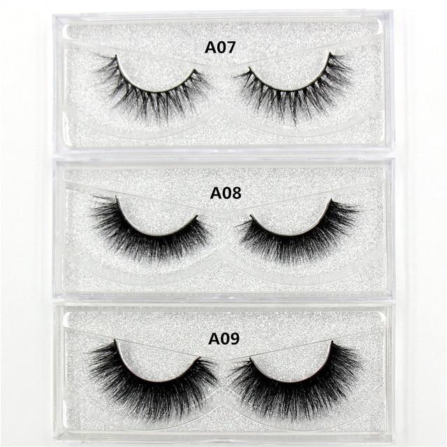 AMAOLASH Eyelashes 3D Mink Lashes Long Lasting Volume Dramatic Eyelashes Makeup Eyelash Extension Natural False Eyelashes 4