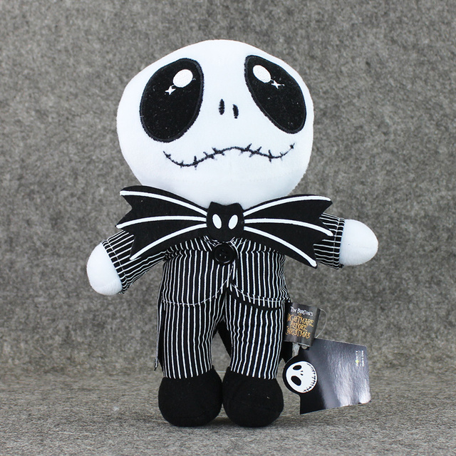 25cm The Nightmare Before Christmas Jack Skellington in Suit Plush Toy  Stuffed Doll Gift for Kids 2f6b9e6f96