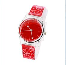 Hot Sell Exquisite Peach Heart Design 3d cartoon Casual silicone WristWatch Quartz women Watch Female Clock