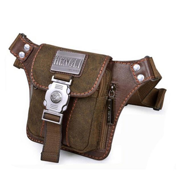 Los hombres de La Cintura de La Lona Packs Cinturón Marca Lavada Lienzo Hombro Bolsas Cruz-cuerpo Para El Hombre Pequeño Mensajero Bolsa de Silla de Montar bolsa