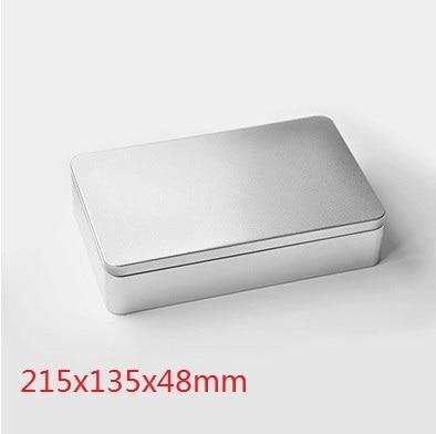ზომა: 215x135x48mm დიდი უბრალო თუნუქის ყუთი / საკვების კონტეინერი / საჩუქრის ლითონის ყუთი / კოსმეტიკური ყუთი / კანფეტის ყუთის ყუთი