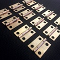 20 PCS 10*8MM Mini Gold Copper Hinge Cabinet Drawer Butt Small Hinge 4 Small Hole With Screws