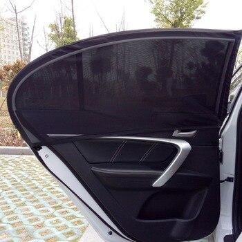 1 par de proteção no windows das crianças pára-sol cortina escudo proteção uv sombra de sol carro preto mosquito net
