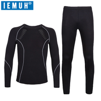 IEMUH Brand Thermal Underwear Men Winter Quick Dry Anti microbial Stretch Thermo Underwear Sets Male Warm Long Johns HI Q