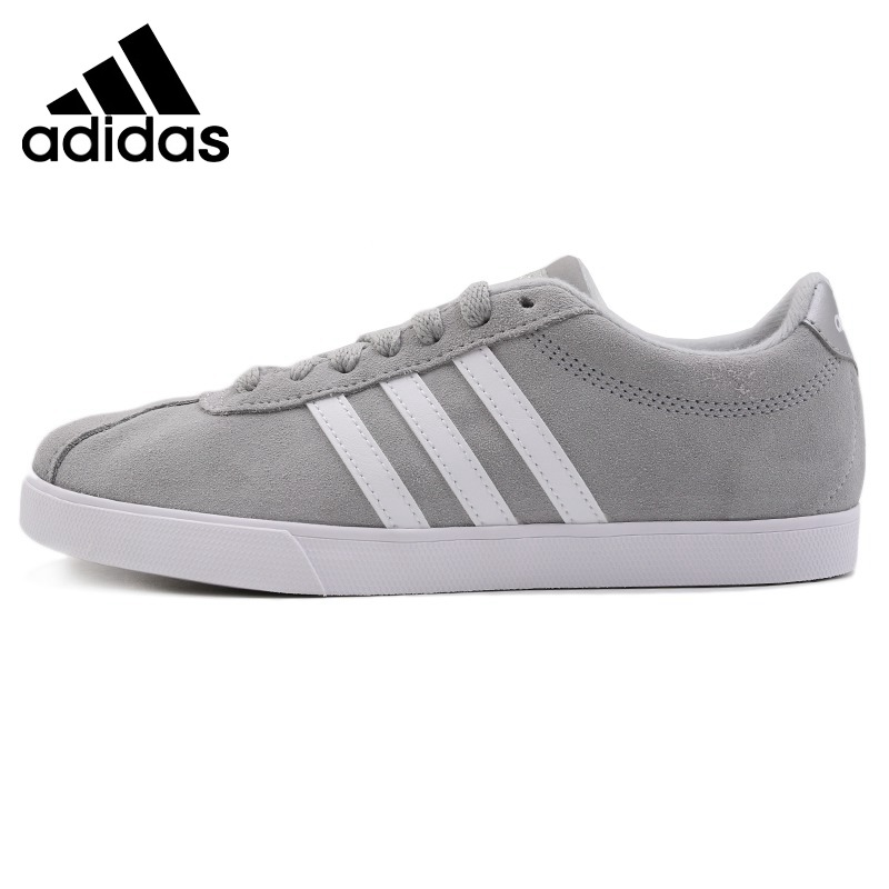 Original Adidas COURTSET Women's Tennis Shoes Sneakers Outdoor Sports Athletic Hard Wearing Cotton Leather Breathable AW4209