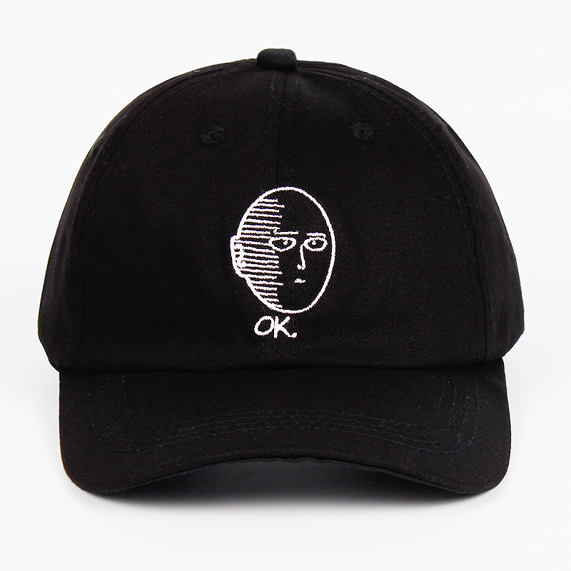 ONE PUNCH MAN Dad Hat 100 Cotton baseball cap Anime fan embroidery funny Hats for Women