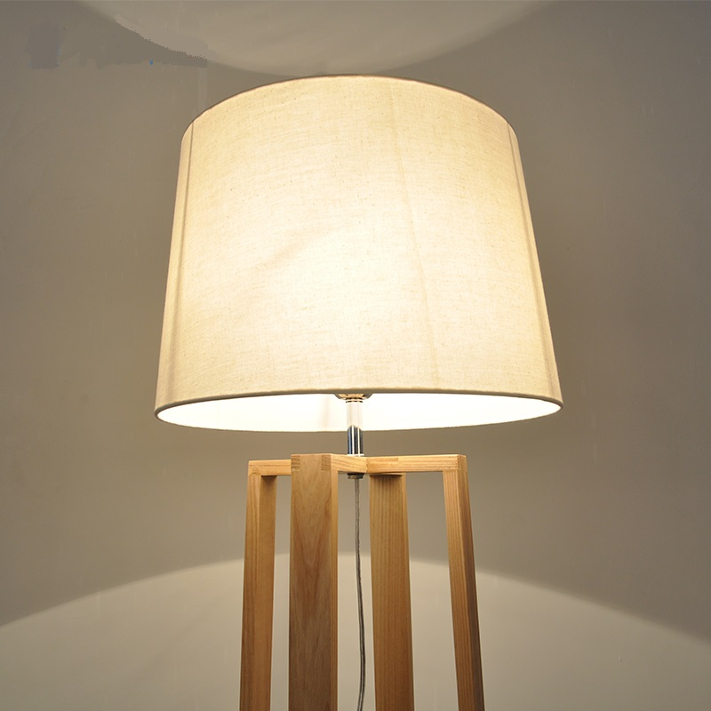 Solid Wooden Nordic modern minimalist wooden floor lamp NEW Japanese living room bedroom study vertical solid wood lamps