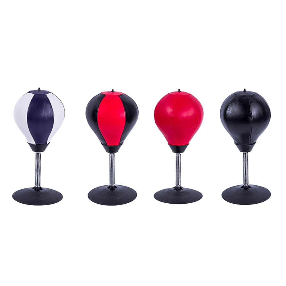 PU Leather Stress Desktop Punching Speedball Heavy Duty Suction Freestanding Reflex Boxing Bag Kit Hot Anti-anxiety Toys 4