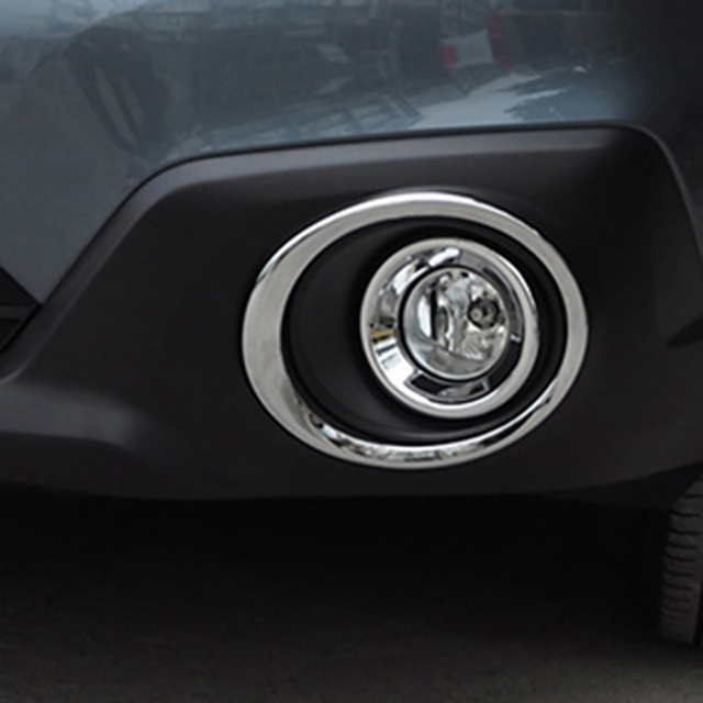 Car Front Fog Lights Lamp Trim Sticker Chrome Moulding For 2017 2016 Subaru Outback Accessories