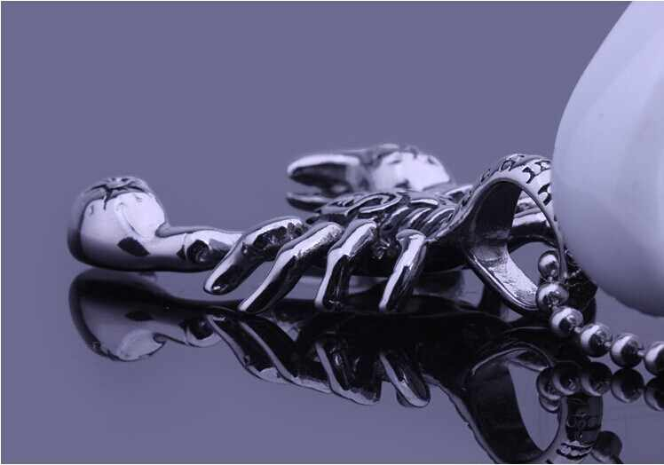 Mens Scorpion King Titanium Steel Pendant Scorpio Man Necklace Constellation Birthday Gift