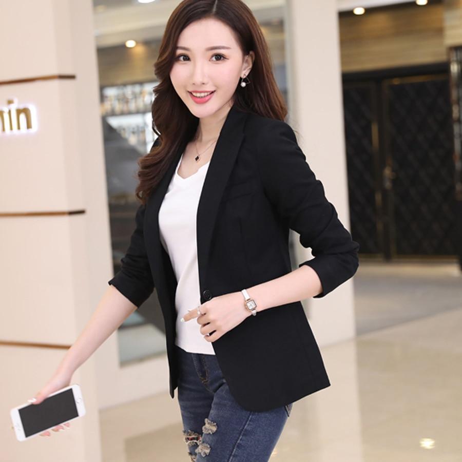 Women Slim One Button Short Blazer Suit Jacket Formal